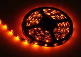 LED Stripe outdoor 3-Chip orange mit 30 LEDs/m -Meterware-
