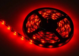 LED Stripe 3-Chip rot mit 30 LEDs/m -5 Meter-