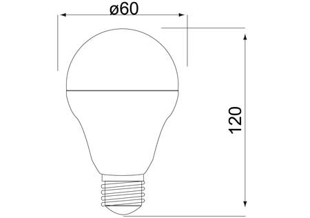 LED Birne E27 mit 10 Watt, warmweiss