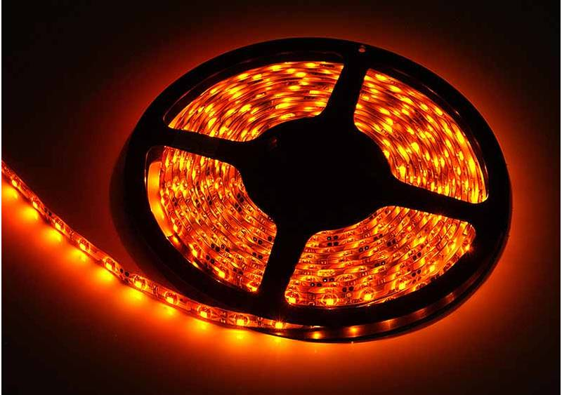 LED Streifen outdoor 3528 SMD orange mit 60 LEDs/m -Meterware-
