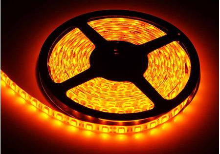 LED Streifen outdoor 3-Chip orange mit 60 LEDs/m -5 Meter-