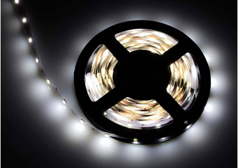 LED Stripe 3-Chip weiss mit 30 LEDs/m -5 Meter-