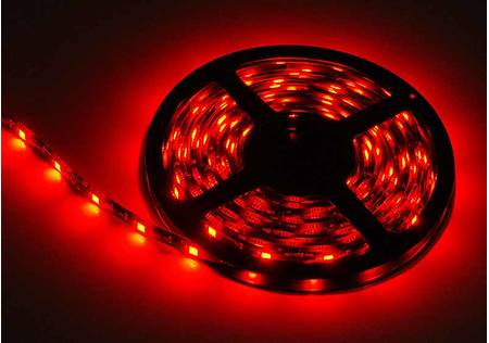 LED Stripe outdoor 3-Chip rot mit 30 LEDs/m -5 Meter-