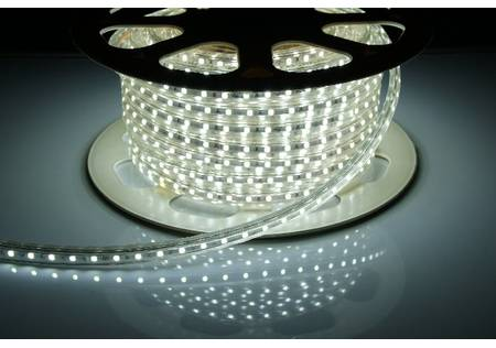 dimmbarer 230V LED-Lichtschlauch 3-Chip SMD weiss mit 60 LEDs/m