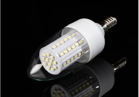 LED Kerze E14 mit 60 LED, warmweiss klar